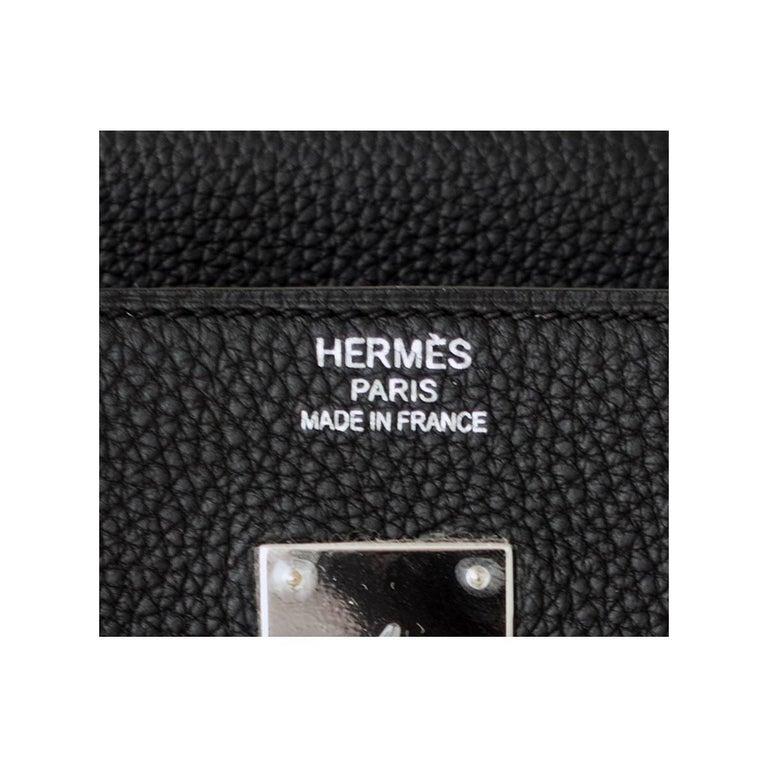 Hermes Birkin 40cm Black Togo Palladium Hardware Birkin Bag D Stamp, 2019 For Sale 4