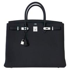 Hermes Birkin 40cm Black Togo Palladium Hardware Birkin Bag D Stamp, 2019