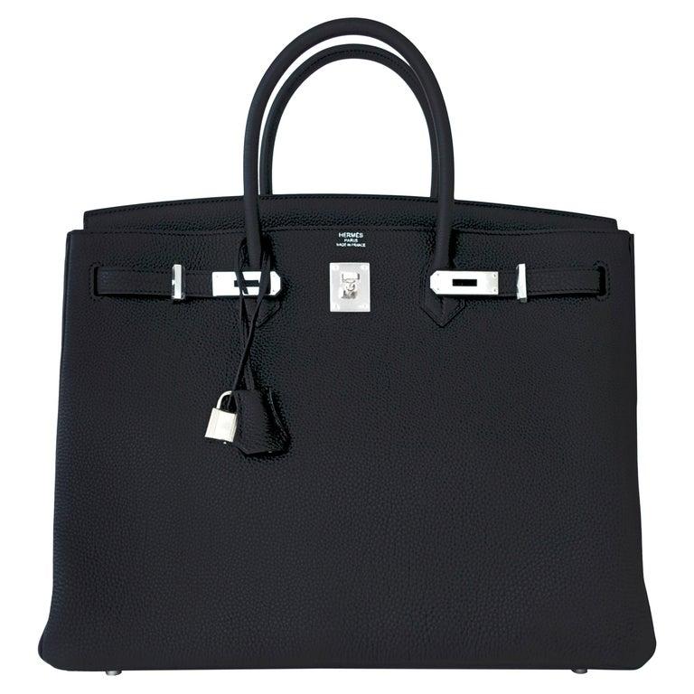 Hermes Birkin 40cm Black Togo Palladium Hardware Birkin Bag D Stamp, 2019 For Sale