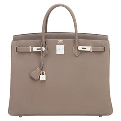 Hermes Birkin 40cm Etoupe Togo Palladium Birkin Bag NEW RARE