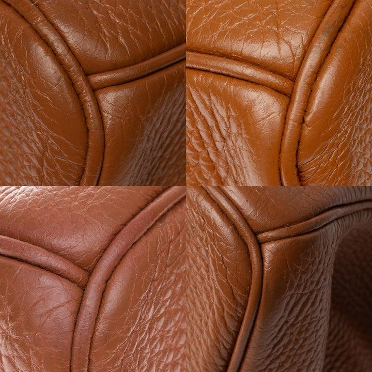 Hermes Birkin 40cm handbag in Gold Togo leather with gold hardware For Sale 6
