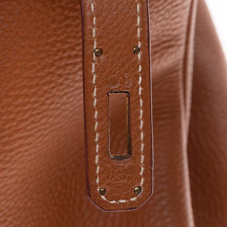 Hermes Birkin 40cm handbag in Gold Togo leather with gold hardware For Sale 2