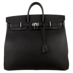 Hermes Birkin 50 NEW Black Leather Men's Travel Carryall Top Handle Satchel Tote