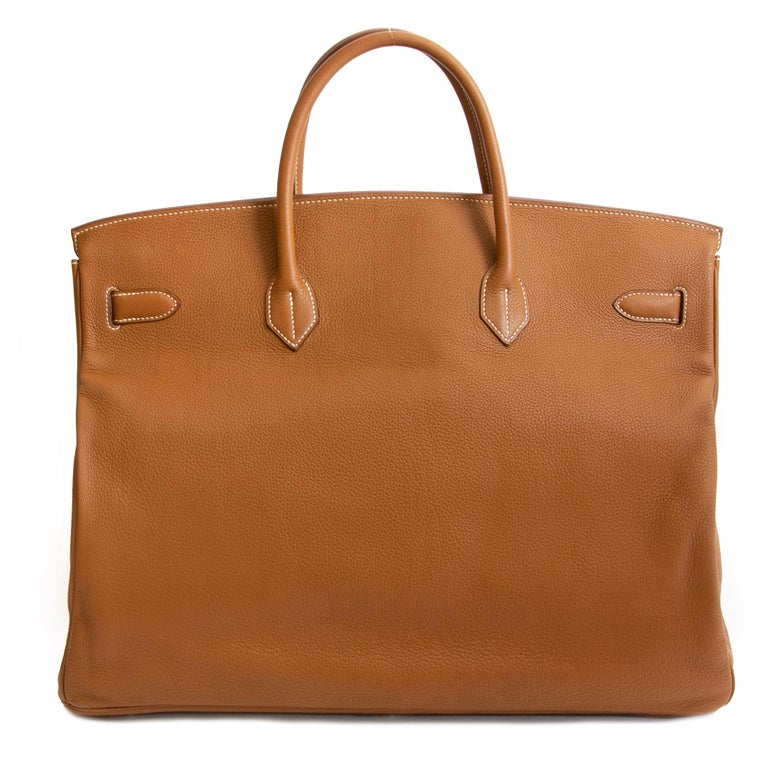 Hermès Birkin 50 Togo Gold PHW In Excellent Condition In Antwerp, BE
