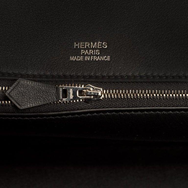 Hermes Birkin Bag 35 De Camp Dechainee Toile Black Veau Swift Palladium Hardware For Sale 3