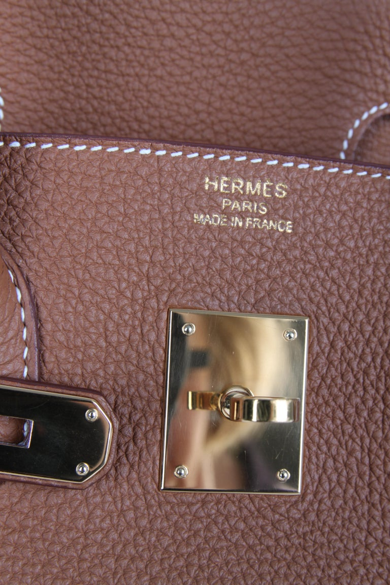 c0e49f94fa Hermes Birkin Bag 35 Gold Togo - goldtone hardware For Sale 2