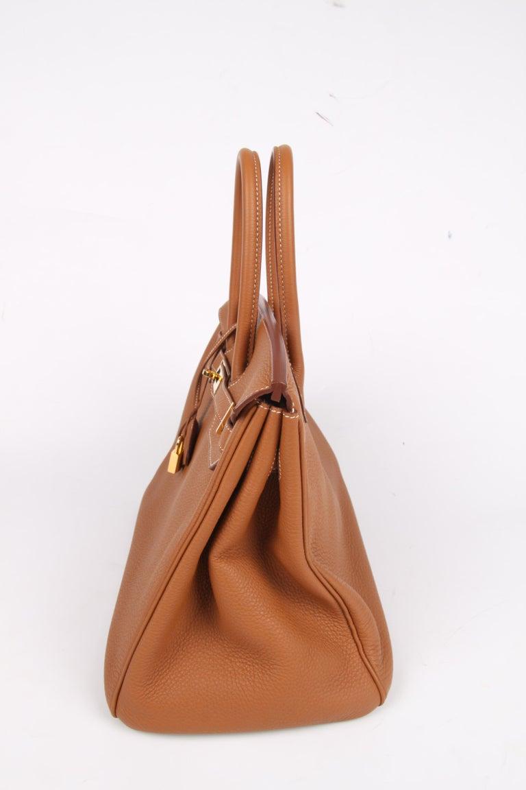 82815495f6 Hermes Birkin Bag 35 Gold Togo - goldtone hardware For Sale 3
