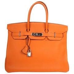 Hermes Birkin Bag 35 Togo Potiron - silvertone hardware