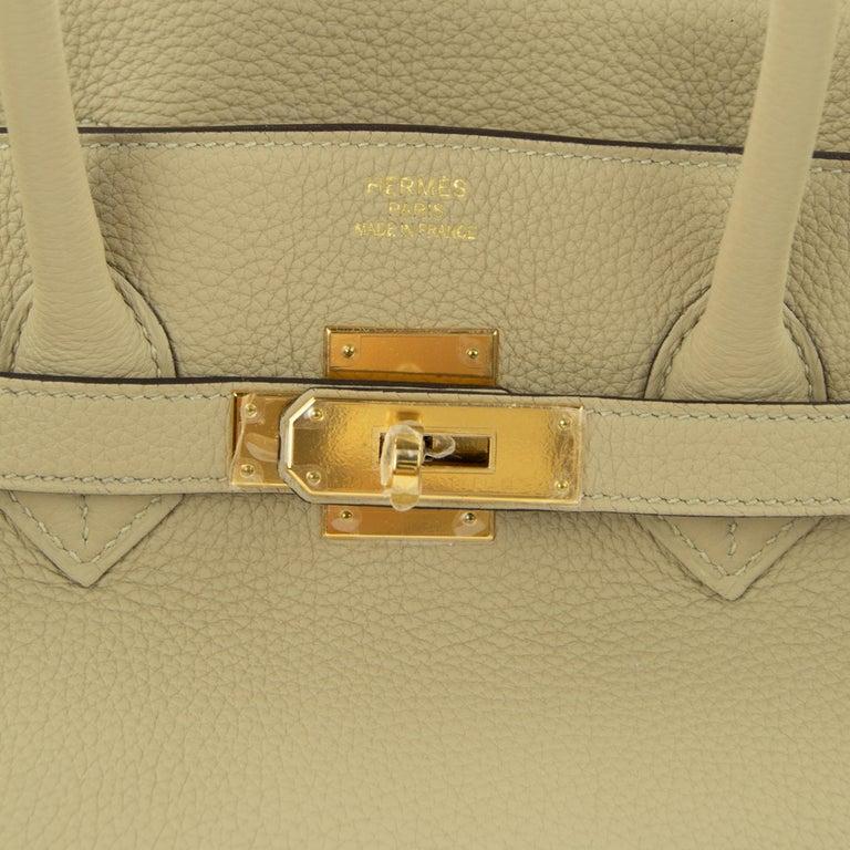 Hermes Birkin Bag 35cm Argile Togo GHW For Sale 5
