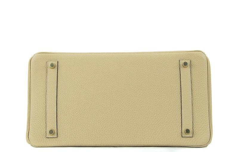 Hermes Birkin Bag 35cm Argile Togo GHW In Excellent Condition For Sale In Newport, RI