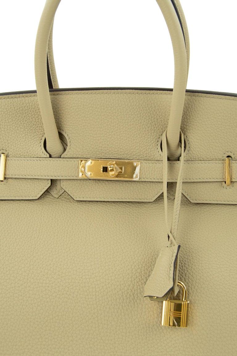 Women's or Men's Hermes Birkin Bag 35cm Argile Togo GHW For Sale