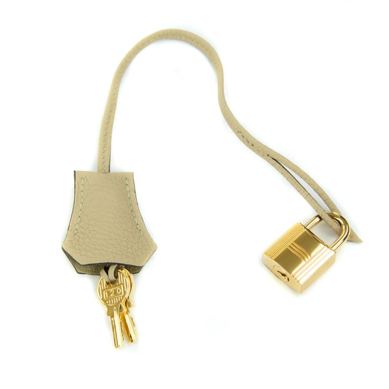Hermes Birkin Bag 35cm Argile Togo GHW For Sale 2