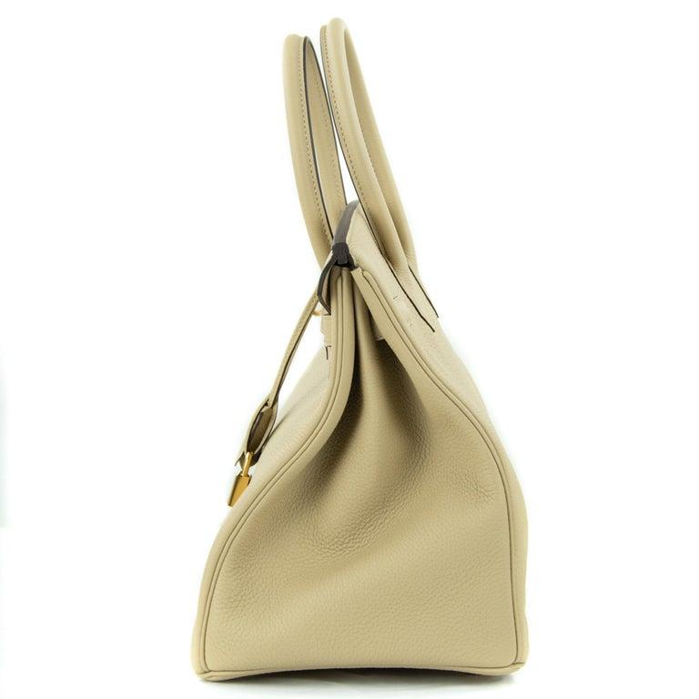 Hermes Birkin Bag 35cm Argile Togo GHW For Sale 4