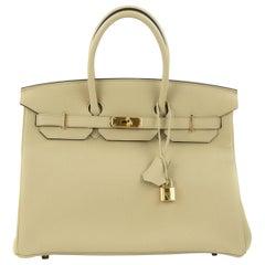 Hermes Birkin Bag 35cm Argile Togo GHW