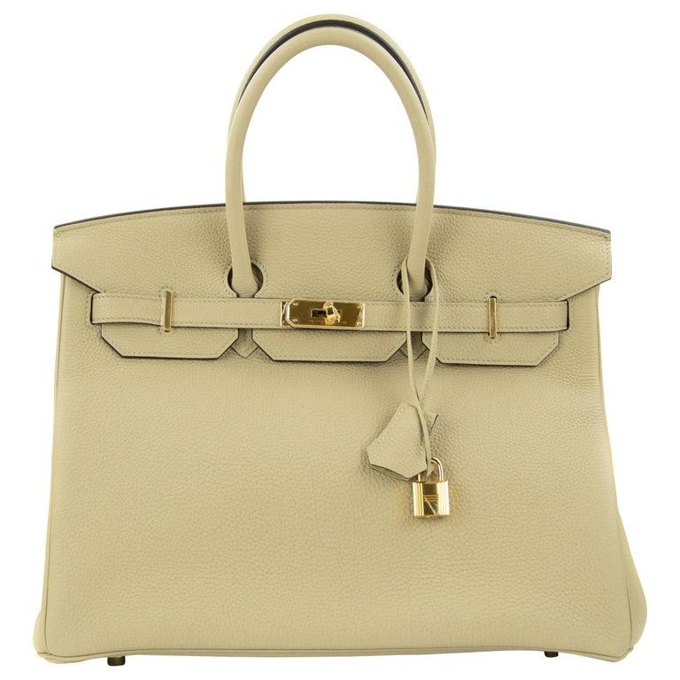 Hermes Birkin Bag 35cm Argile Togo GHW For Sale
