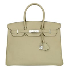 Hermès Birkin Bag 35cm Bag Trench Togo Leather with Palladium Hardware Stamp X