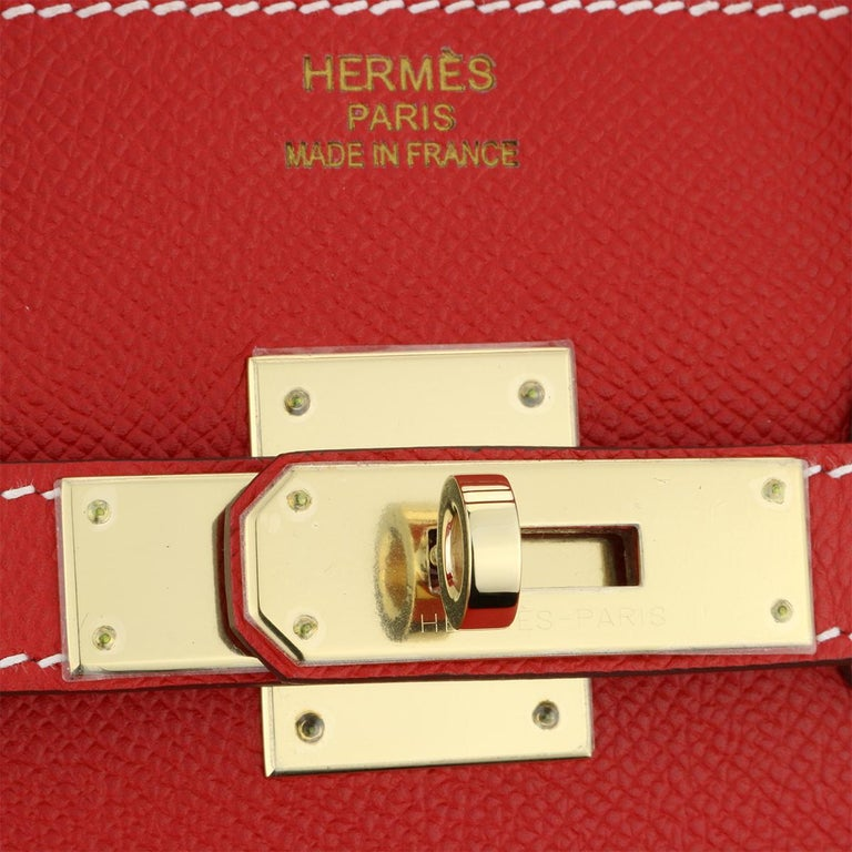 Hermès Birkin Bag 35cm Candy Rouge Casaque/Bleu Thalassa Epsom w/GHW_2012 For Sale 6
