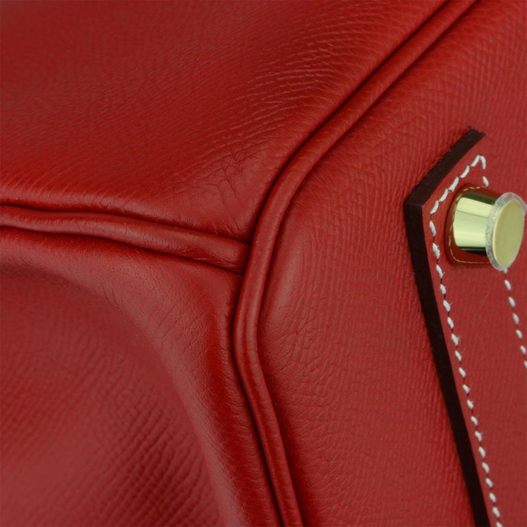Hermès Birkin Bag 35cm Candy Rouge Casaque/Bleu Thalassa Epsom w/GHW_2012 For Sale 2