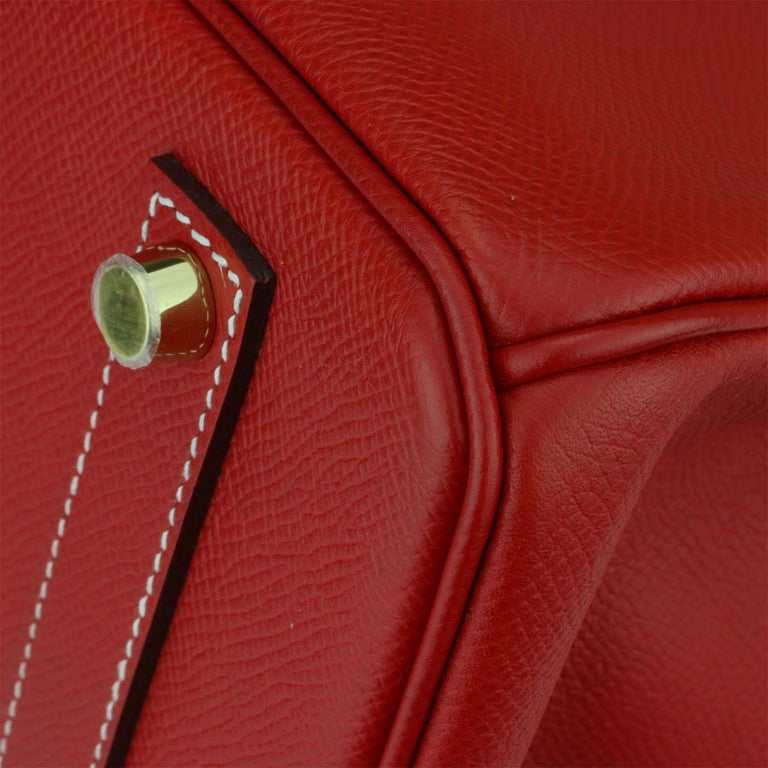 Hermès Birkin Bag 35cm Candy Rouge Casaque/Bleu Thalassa Epsom w/GHW_2012 For Sale 3