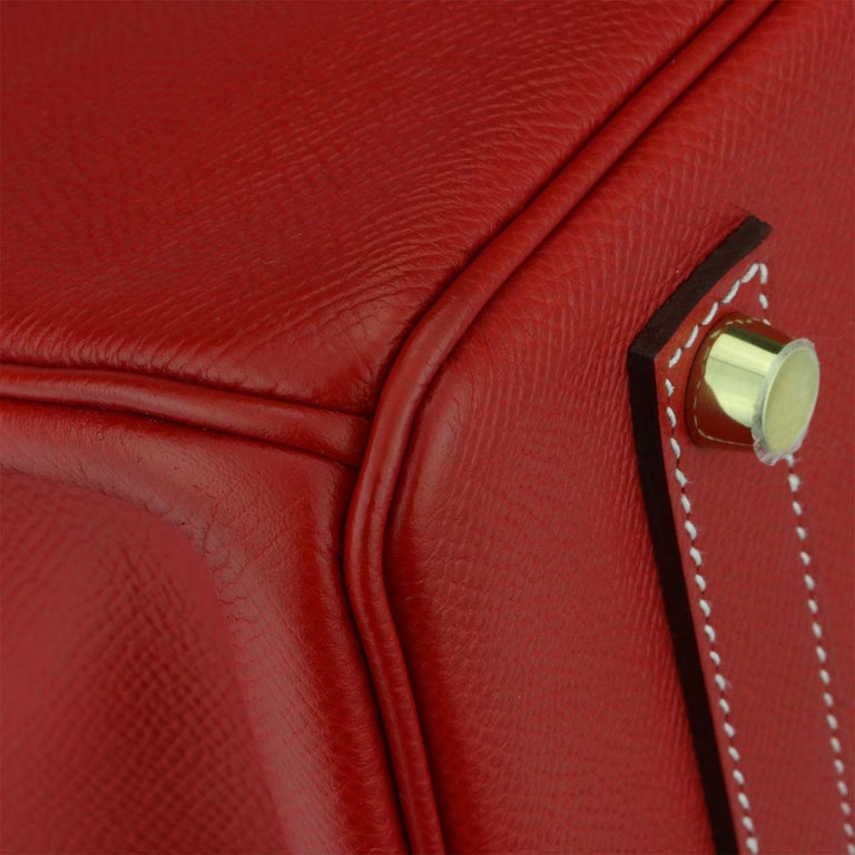 Hermès Birkin Bag 35cm Candy Rouge Casaque/Bleu Thalassa Epsom w/GHW_2012 For Sale 4