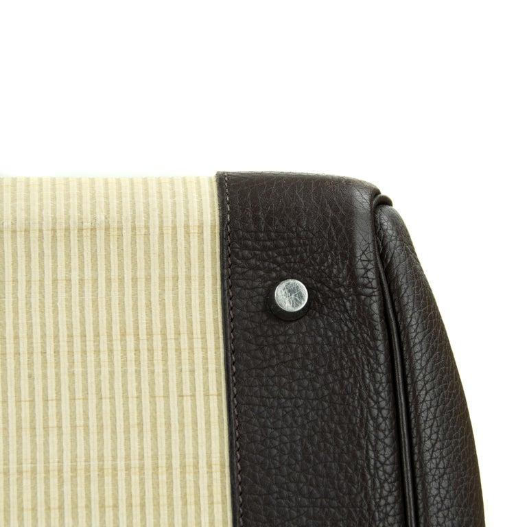 Hermes Birkin Bag 35cm Chocolate Togo Crinolin PHW (Pre Owned) For Sale 7