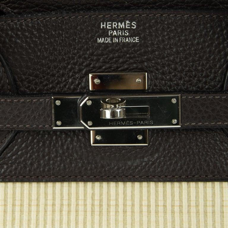 Hermes Birkin Bag 35cm Chocolate Togo Crinolin PHW (Pre Owned) For Sale 1