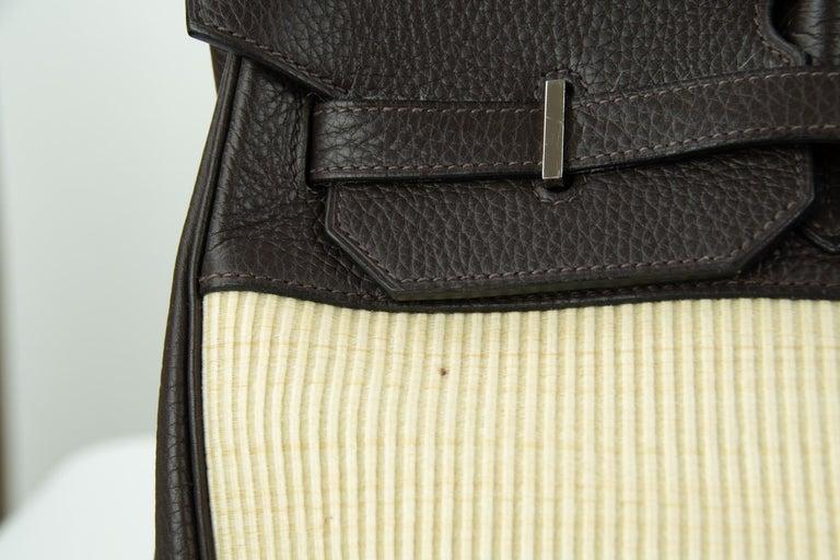 Hermes Birkin Bag 35cm Chocolate Togo Crinolin PHW (Pre Owned) For Sale 2
