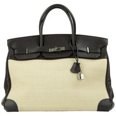Hermes Birkin Bag 35cm Chocolate Togo Crinolin PHW (Pre Owned)