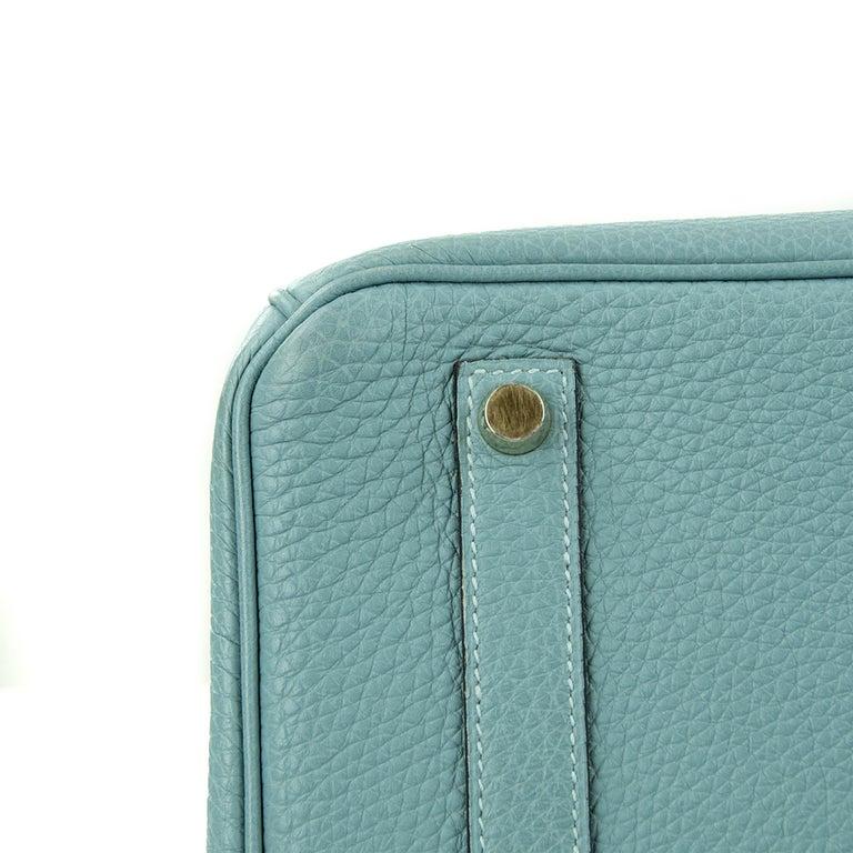 Hermes Birkin Bag 35cm Ciel Clemence GHW (Pre Owned) For Sale 1