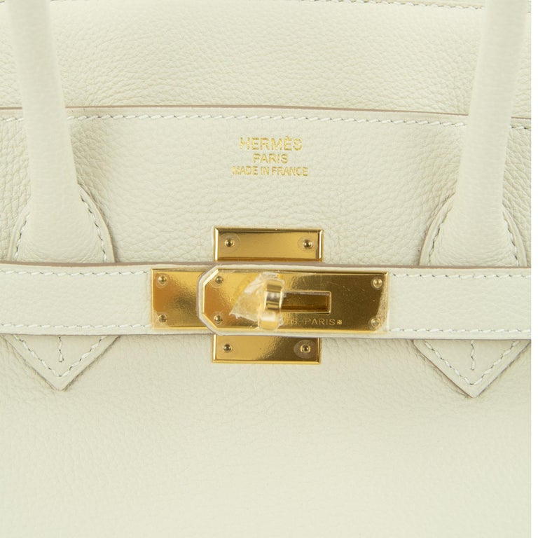 Hermes Birkin Bag 35cm Craie Togo GHW For Sale 5