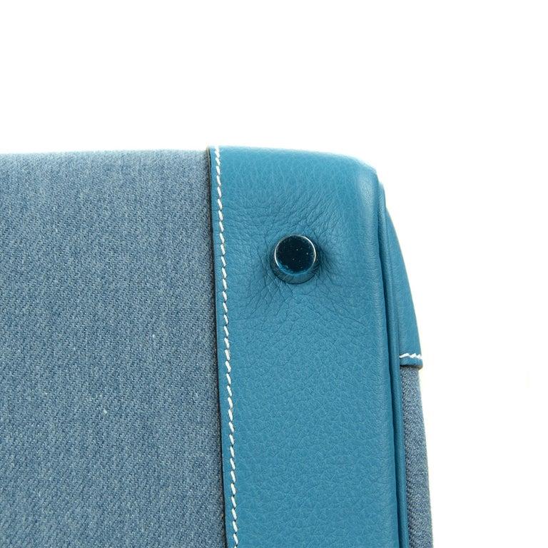 Hermes Birkin Bag 35cm Denim Blue Jean Togo PHW For Sale 2