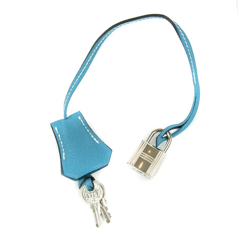 Hermes Birkin Bag 35cm Denim Blue Jean Togo PHW For Sale 3