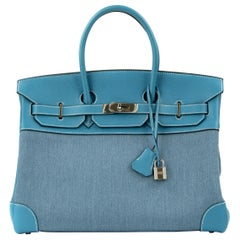 Hermes Birkin Bag 35cm Denim Blue Jean Togo PHW