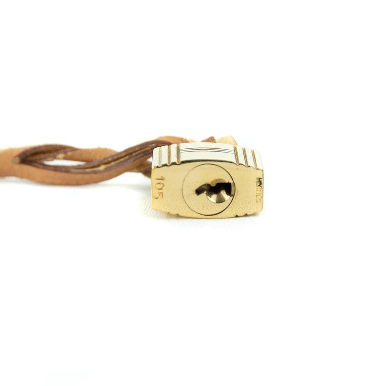 Hermes Birkin Bag 35cm Gold Toile Epsom GHW (Pre Owned) For Sale 4