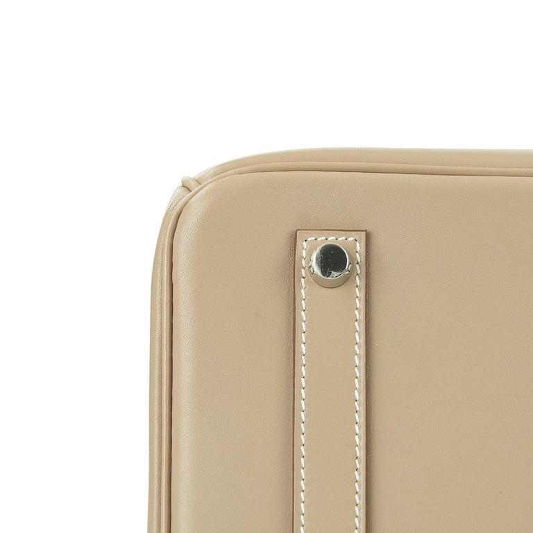 Hermès Birkin Bag 35cm Guilloche Tadelakt Argile PHW For Sale 1