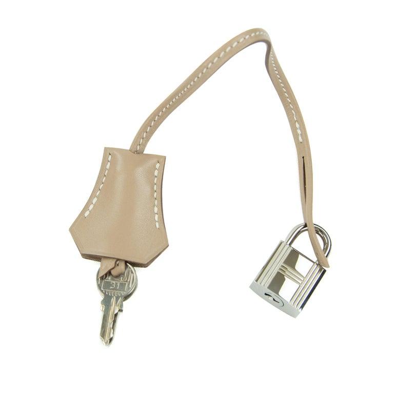 Hermès Birkin Bag 35cm Guilloche Tadelakt Argile PHW For Sale 2