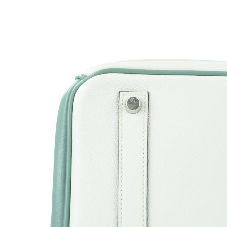 Women's or Men's Hermes Birkin Bag 35cm HSS Tri Color Brushed PHW (Pre Owned) For Sale