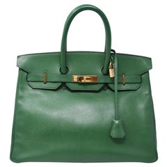Hermes Birkin Bag 35cm Pelouse Courchevel GHW