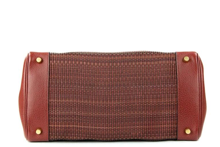 Brown Hermes Birkin Bag 35cm Rouge H Buffalo Crinoline Birkin GHW (Pre Owned) For Sale