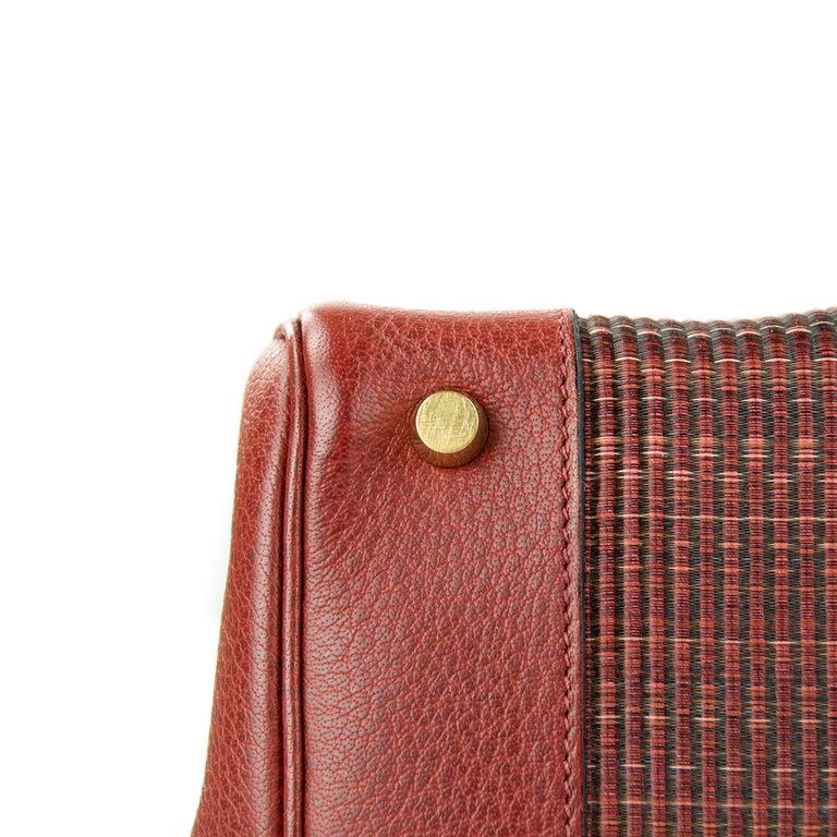 Women's or Men's Hermes Birkin Bag 35cm Rouge H Buffalo Crinoline Birkin GHW (Pre Owned) For Sale