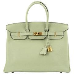 Hermes Birkin Bag 35cm Sauge Clemence GHW