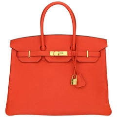 Hermès Birkin Bag 35cm Special Order HSS Bag Capucine Togo Leather w/GHW 2015