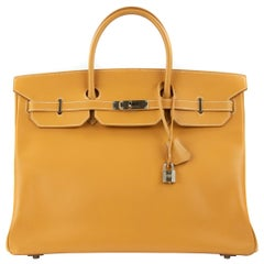 Hermes Birkin Bag 35cm Vache Natural PHW