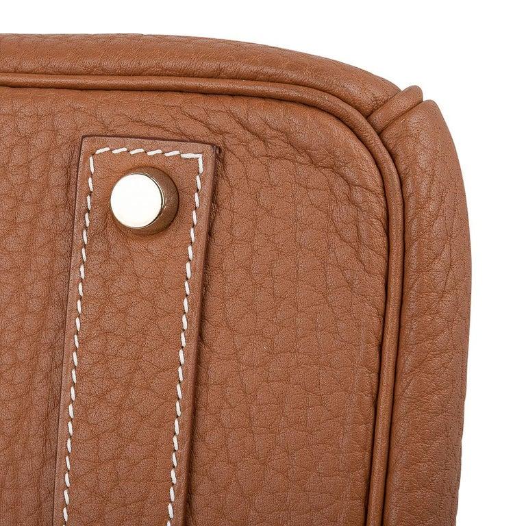 Hermes Birkin Bag 40 Iconic Gold Clemence Gold Hardware For Sale 9