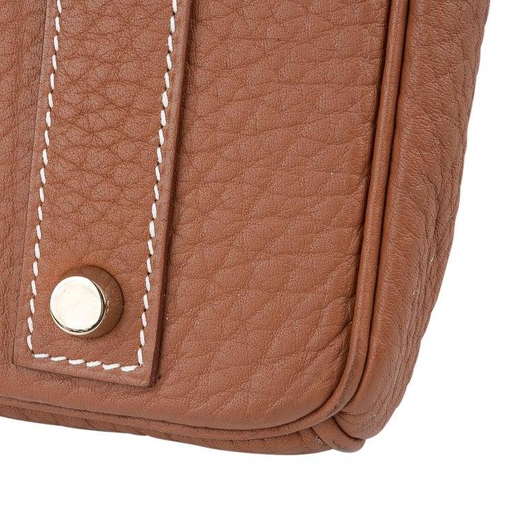 Hermes Birkin Bag 40 Iconic Gold Clemence Gold Hardware For Sale 10
