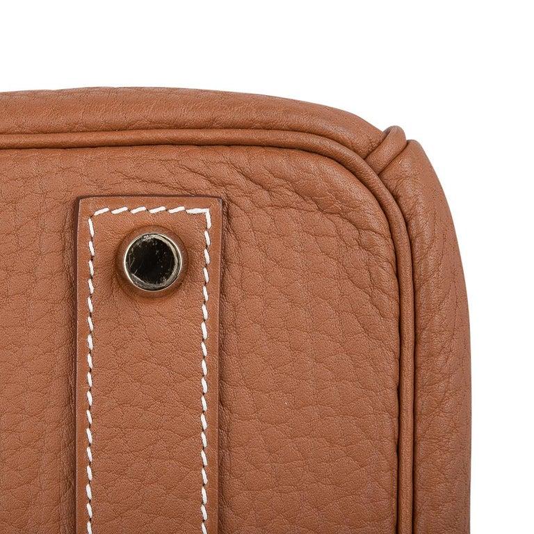 Hermes Birkin Bag 40 Iconic Gold Clemence Gold Hardware For Sale 12