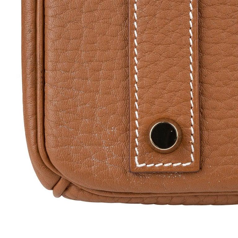 Hermes Birkin Bag 40 Iconic Gold Clemence Gold Hardware For Sale 13