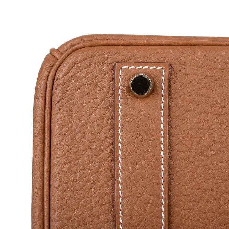 Hermes Birkin Bag 40 Iconic Gold Clemence Gold Hardware For Sale 14