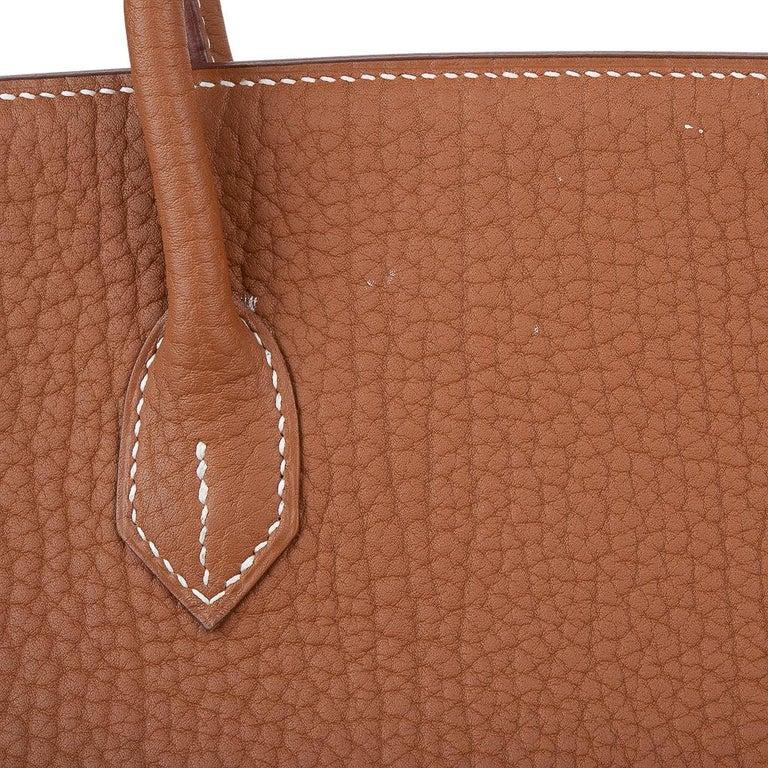Hermes Birkin Bag 40 Iconic Gold Clemence Gold Hardware For Sale 15