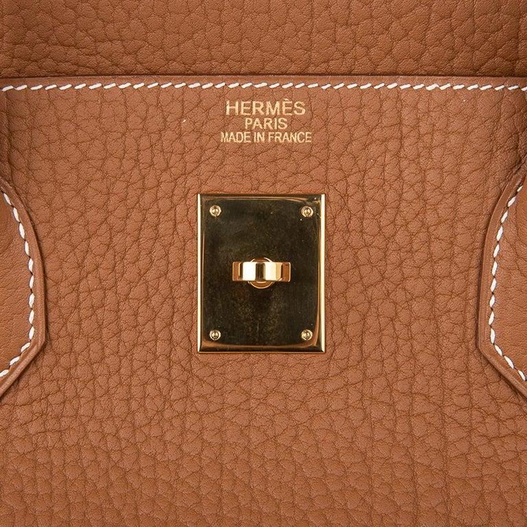 Women's or Men's Hermes Birkin Bag 40 Iconic Gold Clemence Gold Hardware For Sale